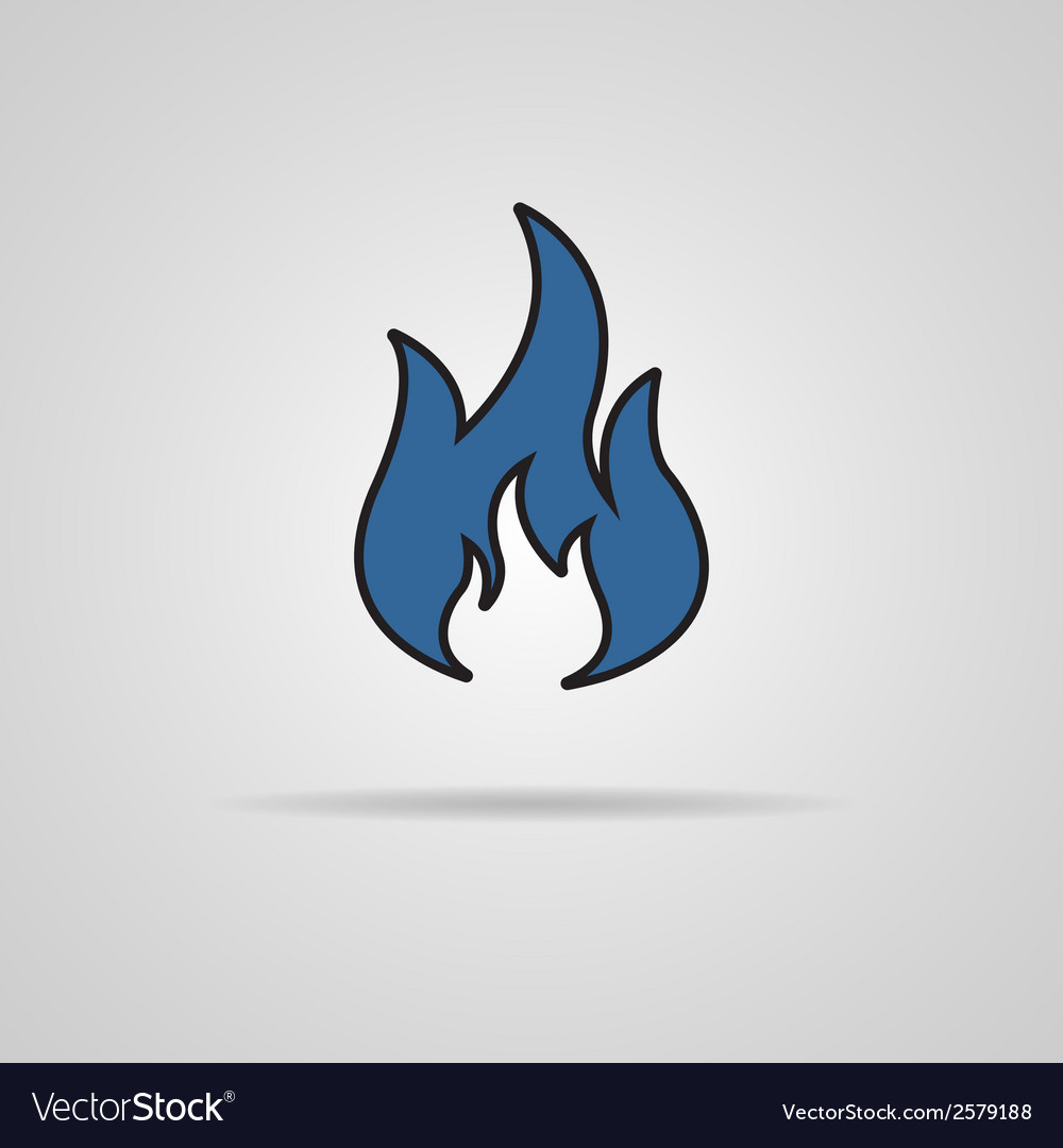 Fire icon with shadow - vector | Price: 1 Credit (USD $1)