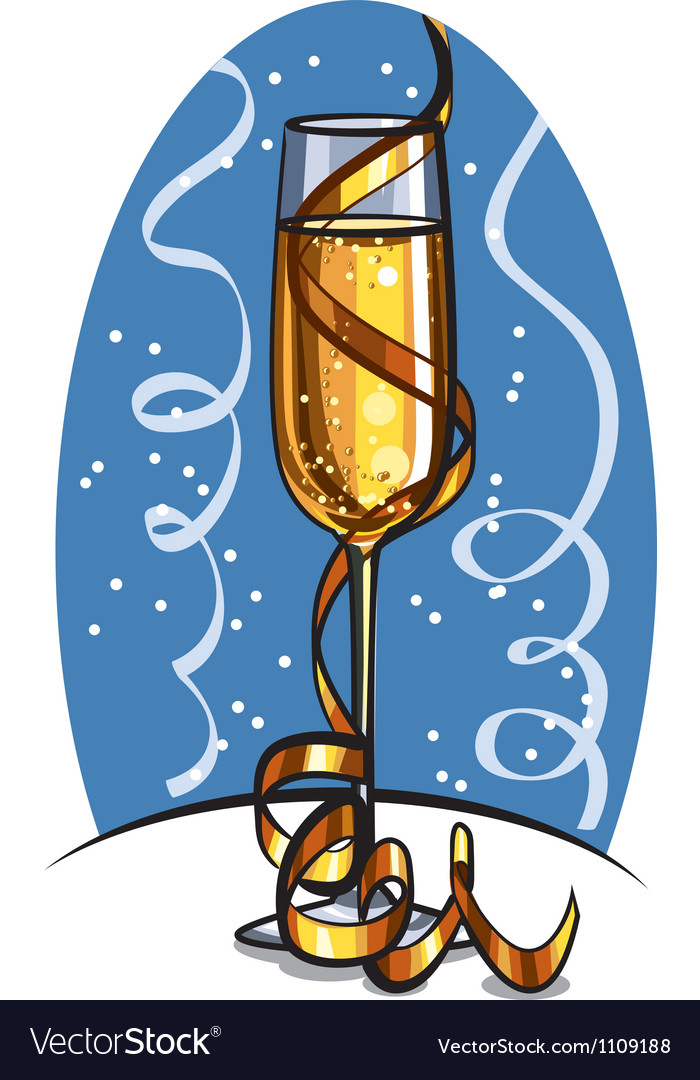 Glass of champagne vector | Price: 3 Credit (USD $3)