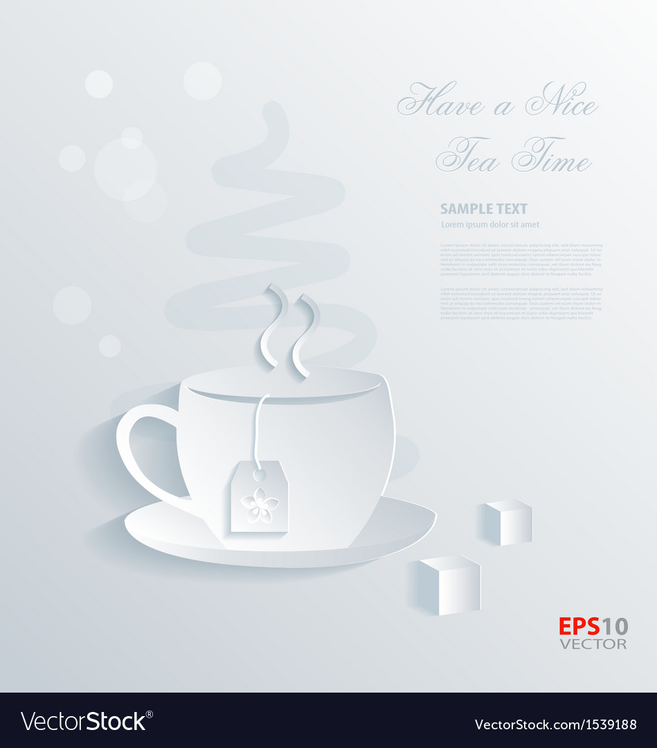 Have a nice tea time background vector | Price: 1 Credit (USD $1)