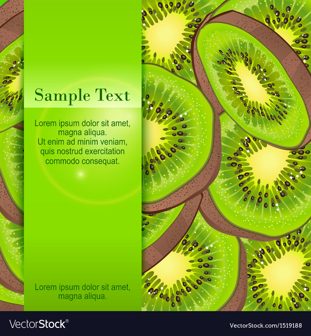 Kiwi banner vector | Price: 1 Credit (USD $1)