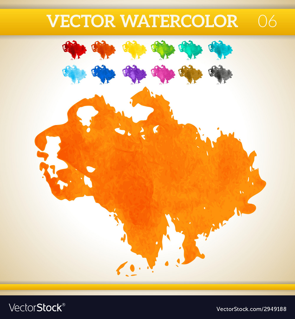 Orange watercolor artistic splash for design and vector | Price: 1 Credit (USD $1)