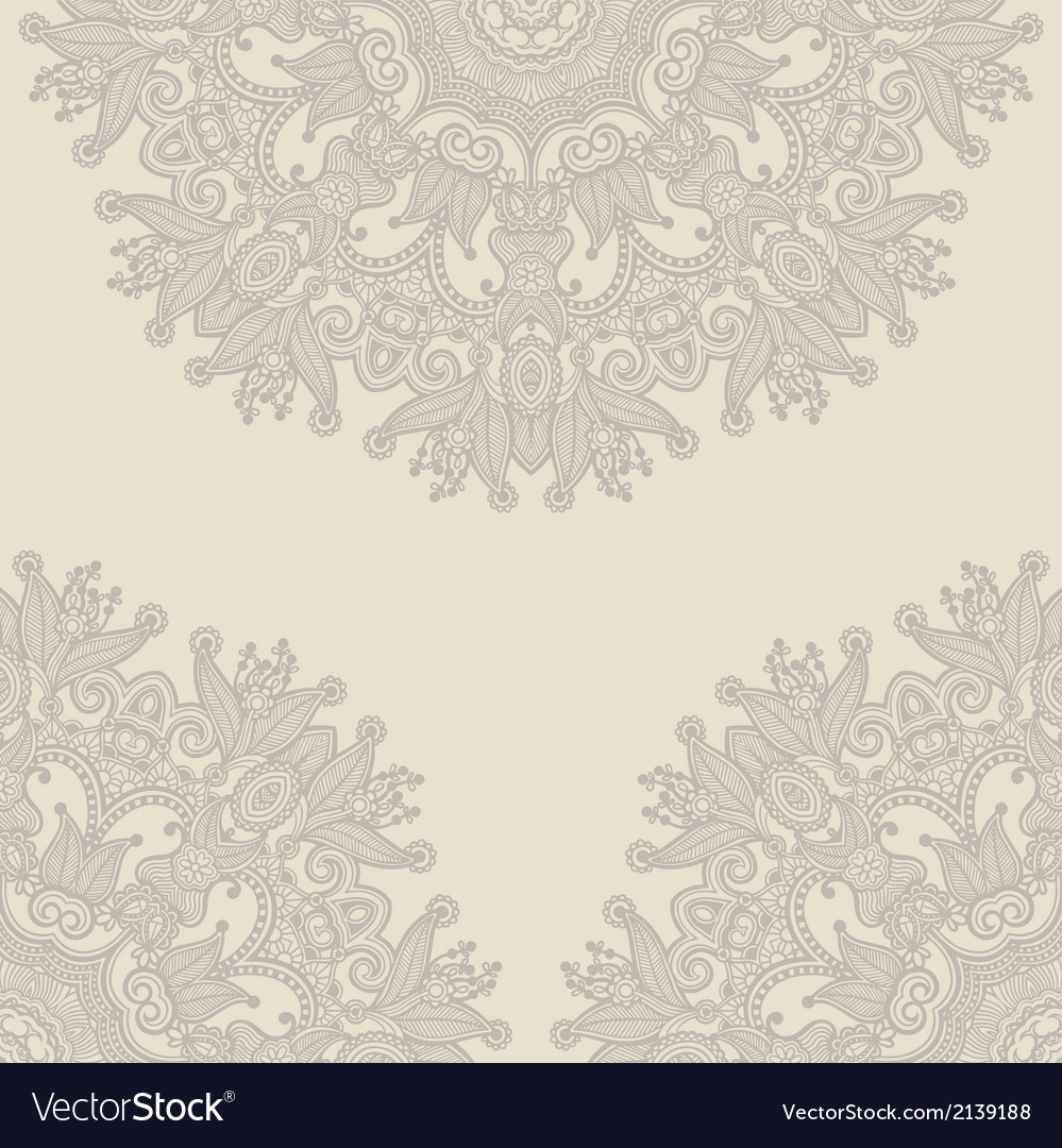 Ornamental circle template vector | Price: 1 Credit (USD $1)