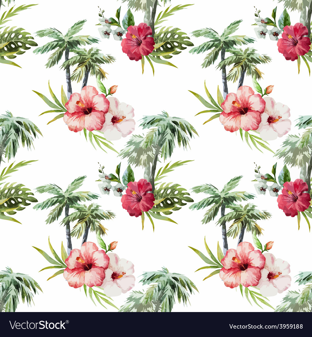 Palm pattern vector | Price: 1 Credit (USD $1)