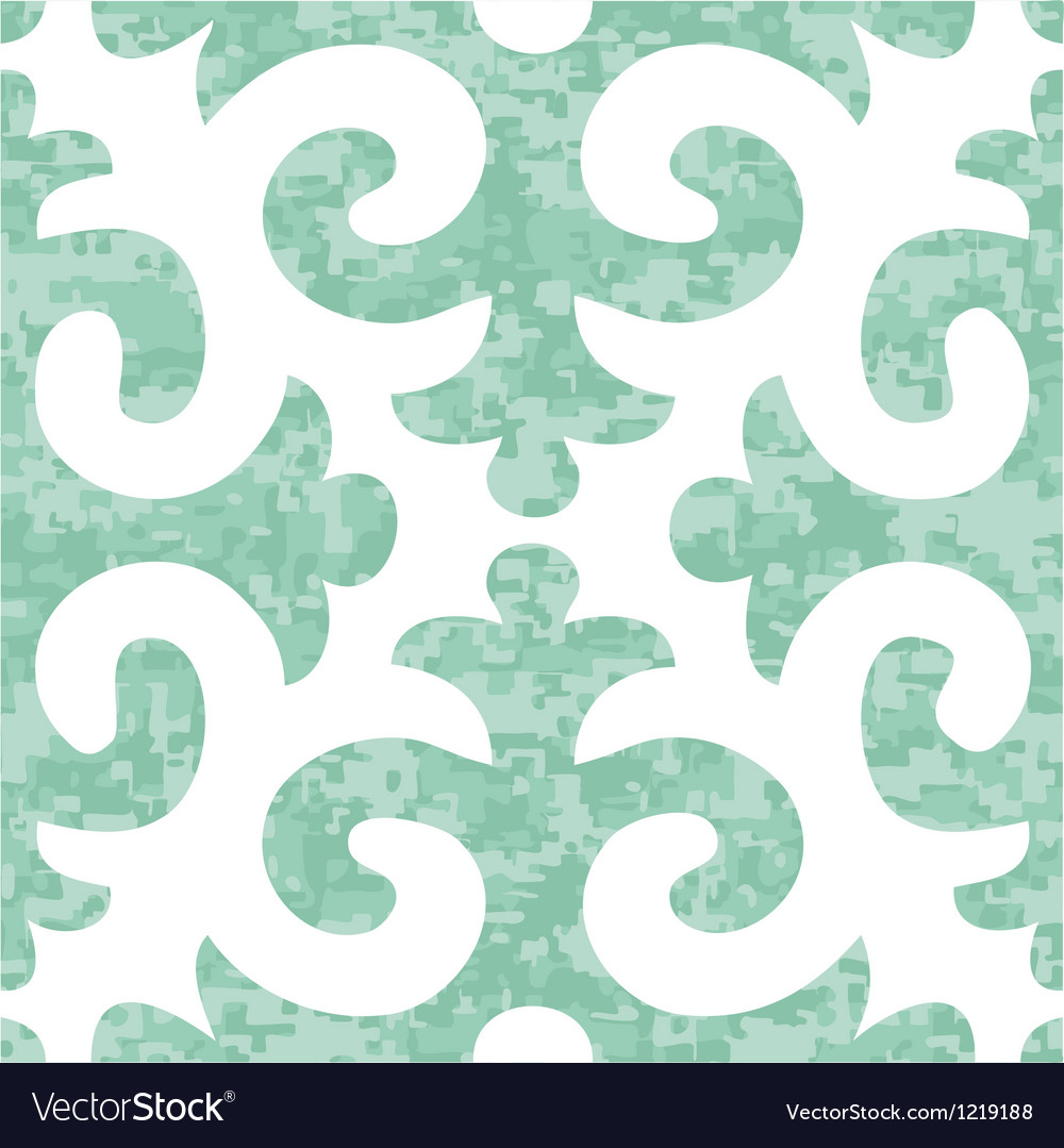 Seamless shyrdak fleur de lis background pattern vector | Price: 1 Credit (USD $1)