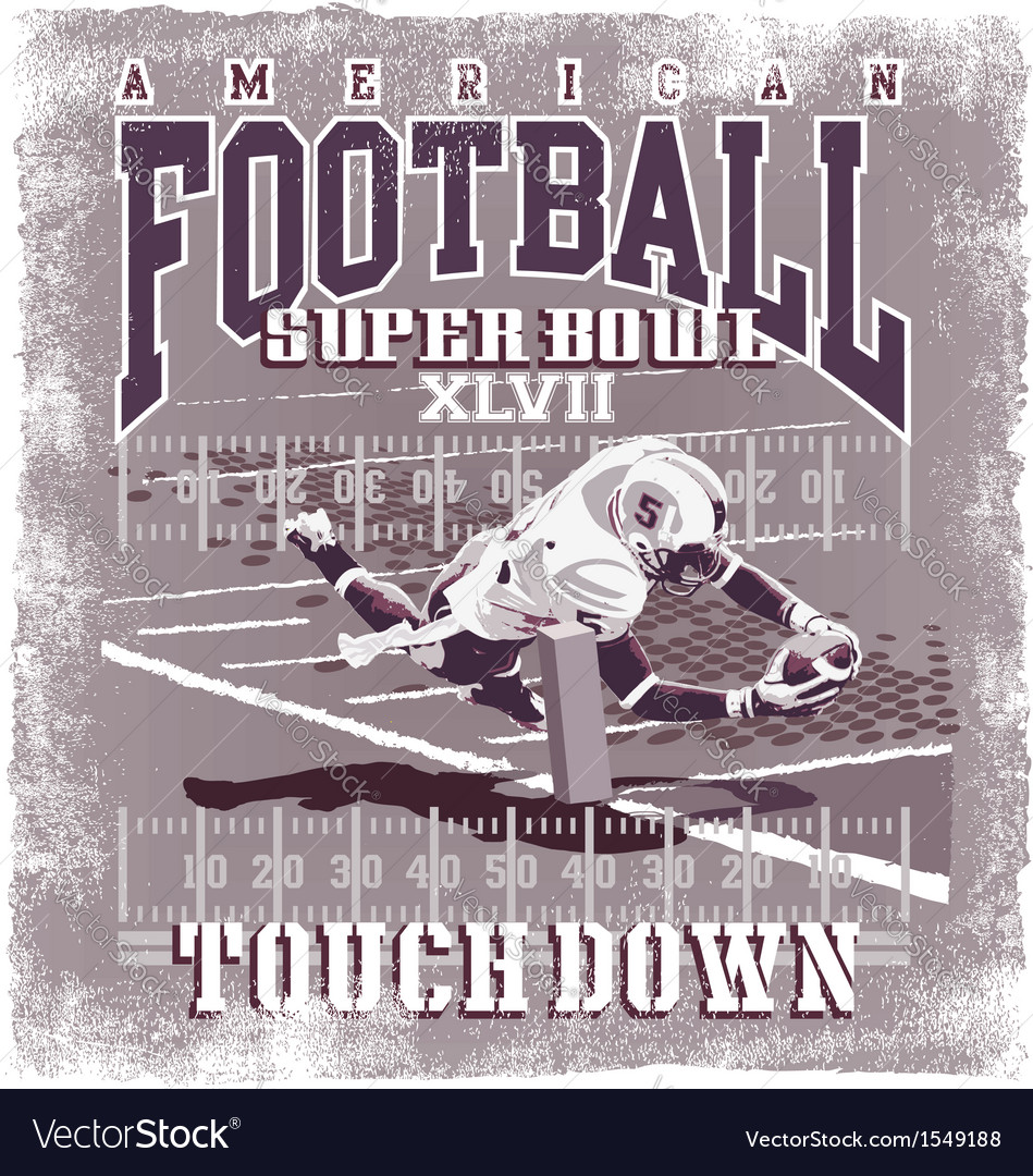 Touchdown american football vector | Price: 3 Credit (USD $3)