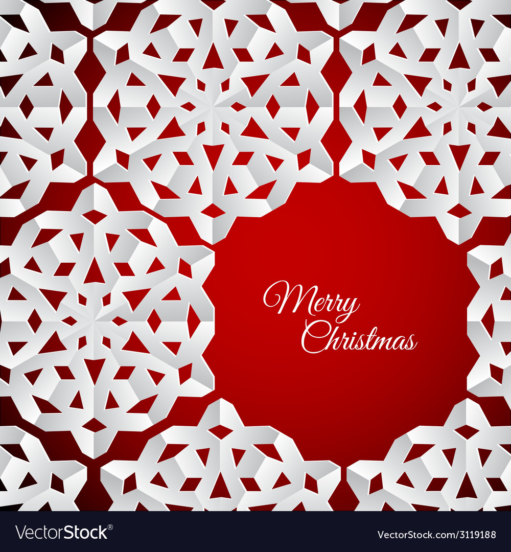 White paper christmas snowflakes on a red vector | Price: 1 Credit (USD $1)