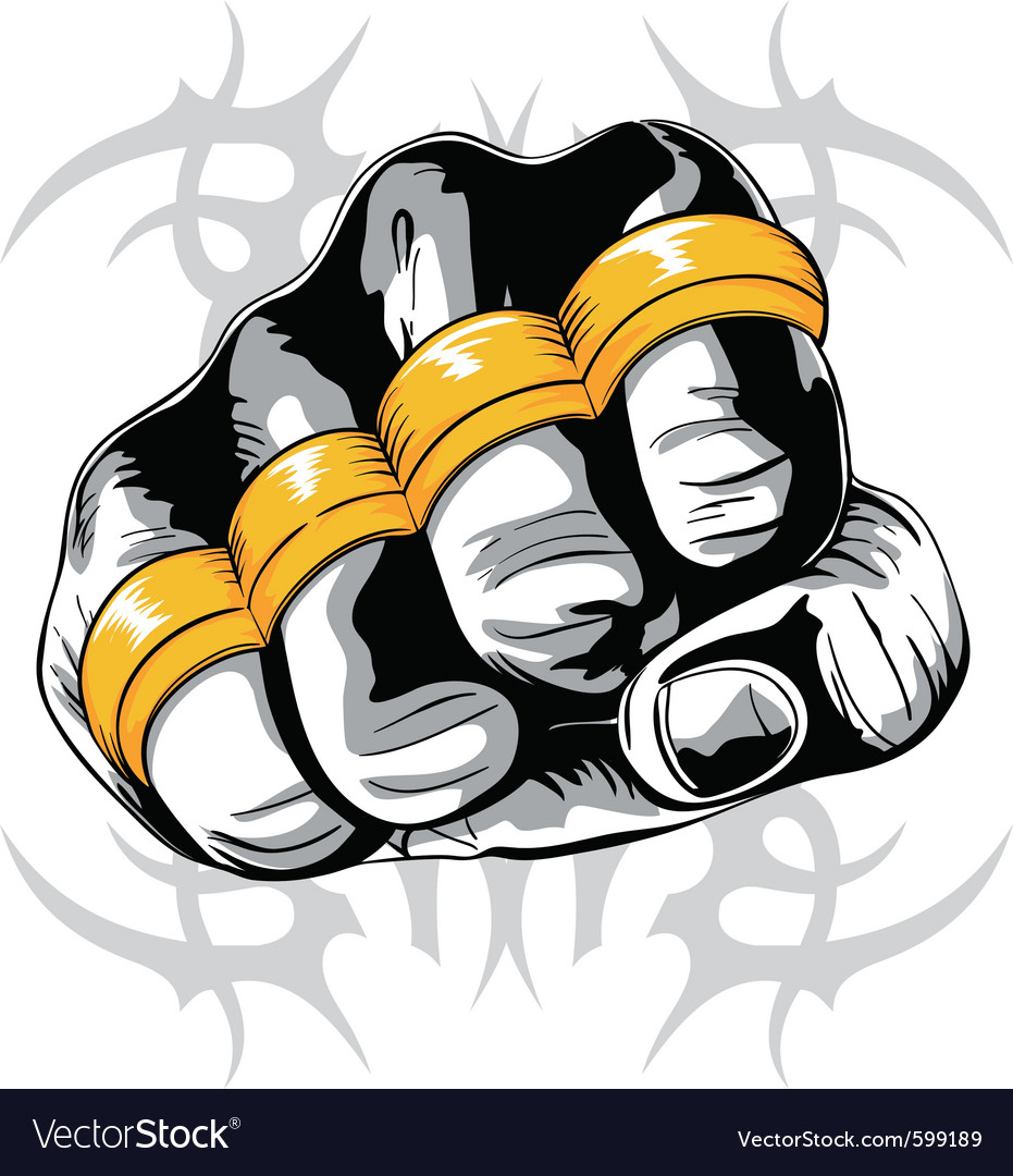 Brass knuckle fist vector | Price: 1 Credit (USD $1)