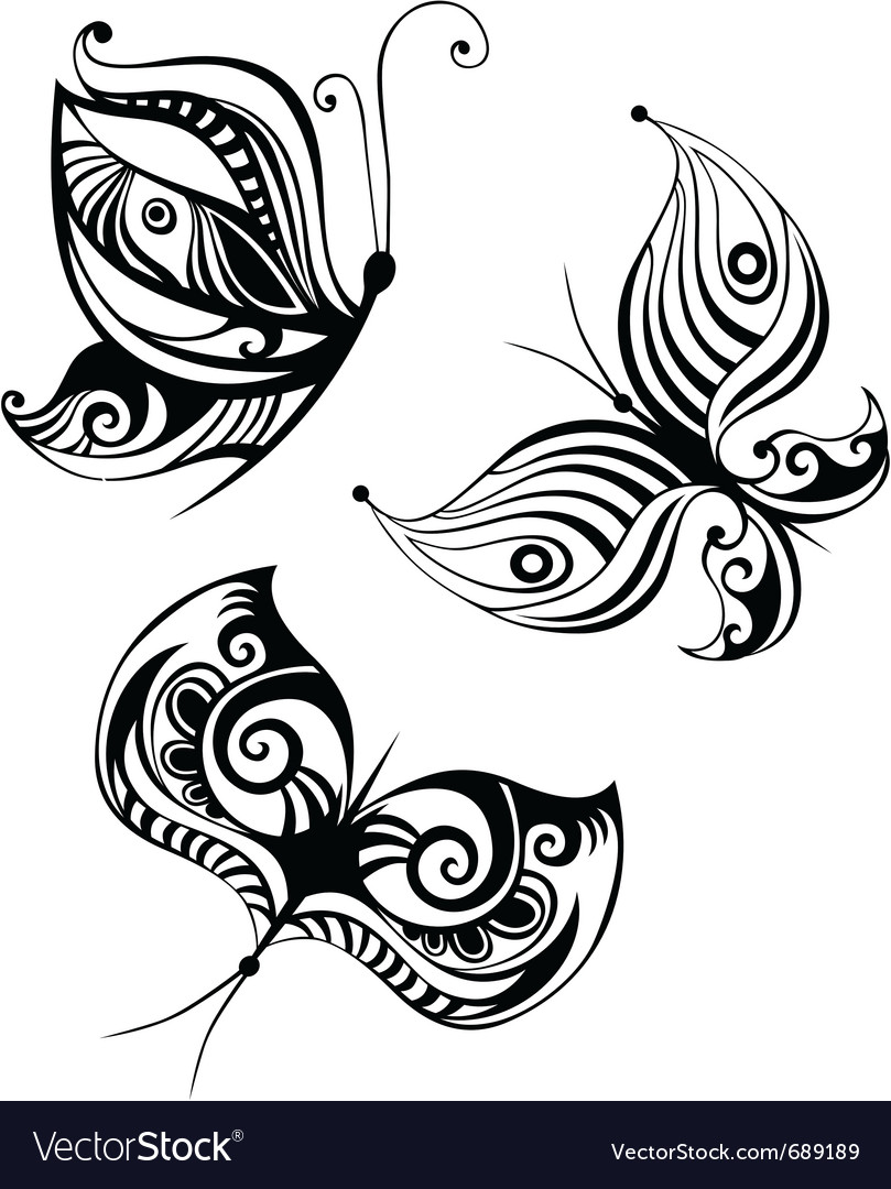 Butterfly set vector | Price: 1 Credit (USD $1)