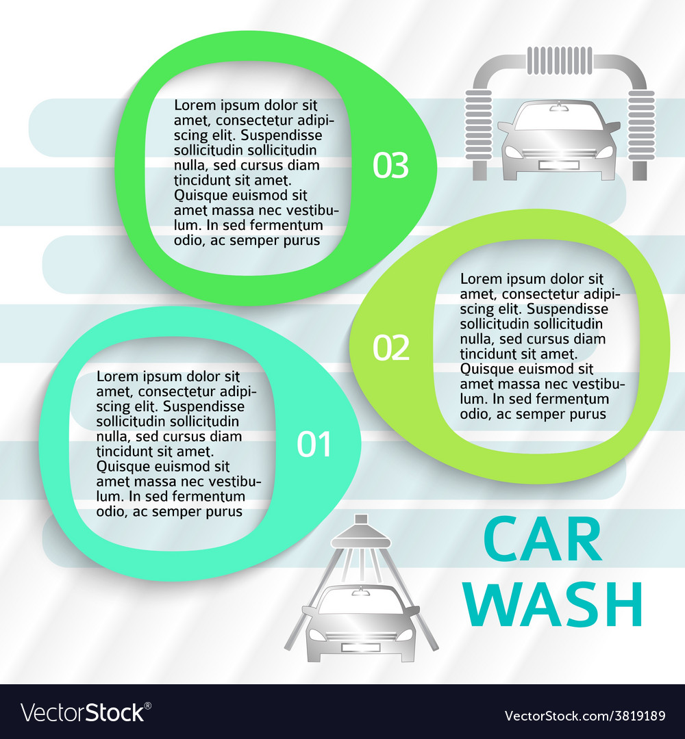 Car wash service ads page flyer background vector | Price: 1 Credit (USD $1)