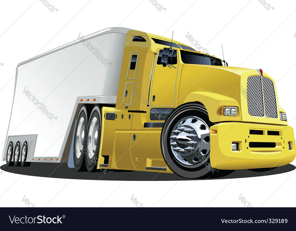 Cartoon cargo truck vector | Price: 3 Credit (USD $3)
