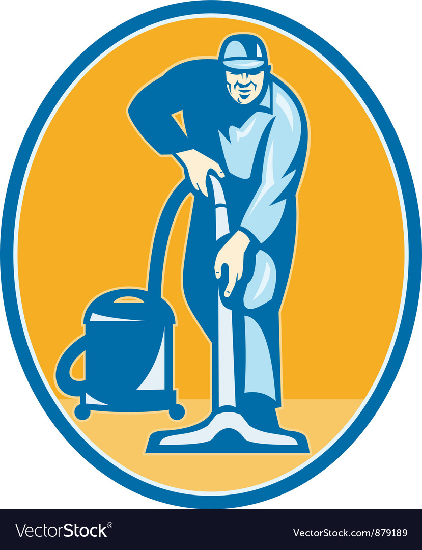 Cleaner janitor worker vector | Price: 1 Credit (USD $1)