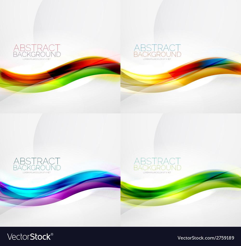 Collection of wave layouts vector