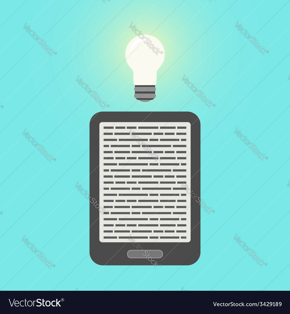 E-book and light bulb vector | Price: 1 Credit (USD $1)