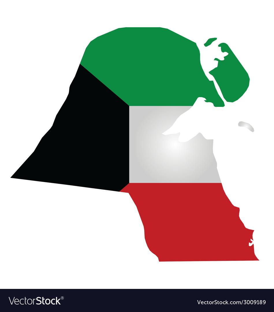Kuwait flag vector | Price: 1 Credit (USD $1)