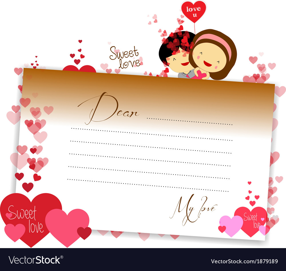 Letterhear for valentines brown vector | Price: 1 Credit (USD $1)
