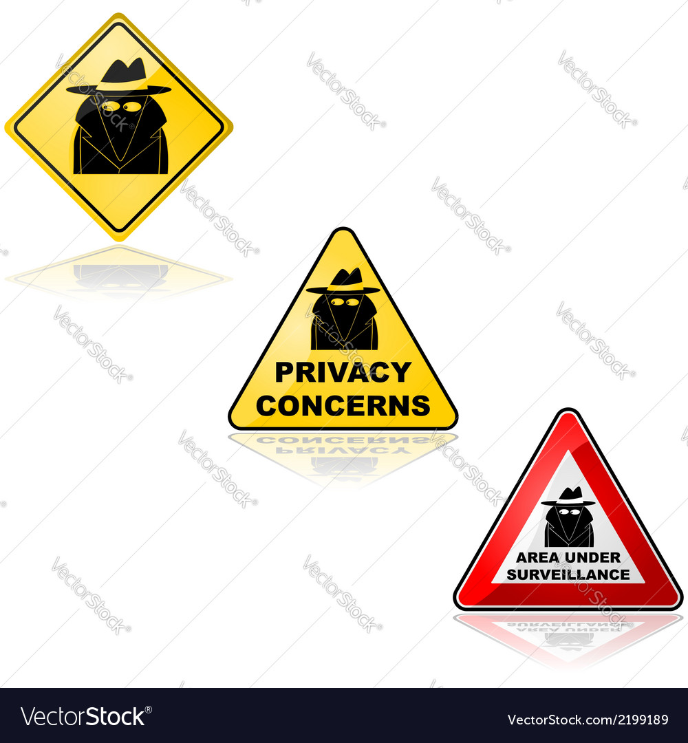 Privacy concerns vector | Price: 1 Credit (USD $1)