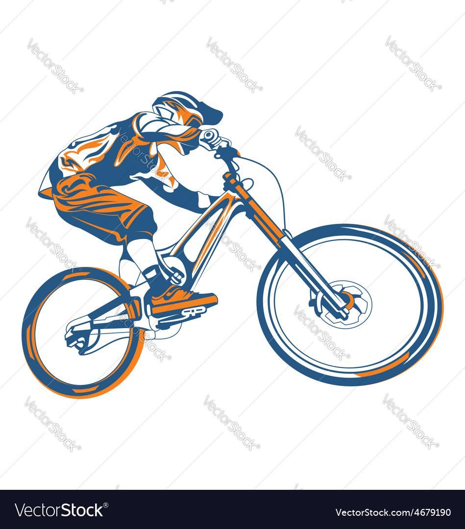 Bike mountain vector | Price: 1 Credit (USD $1)