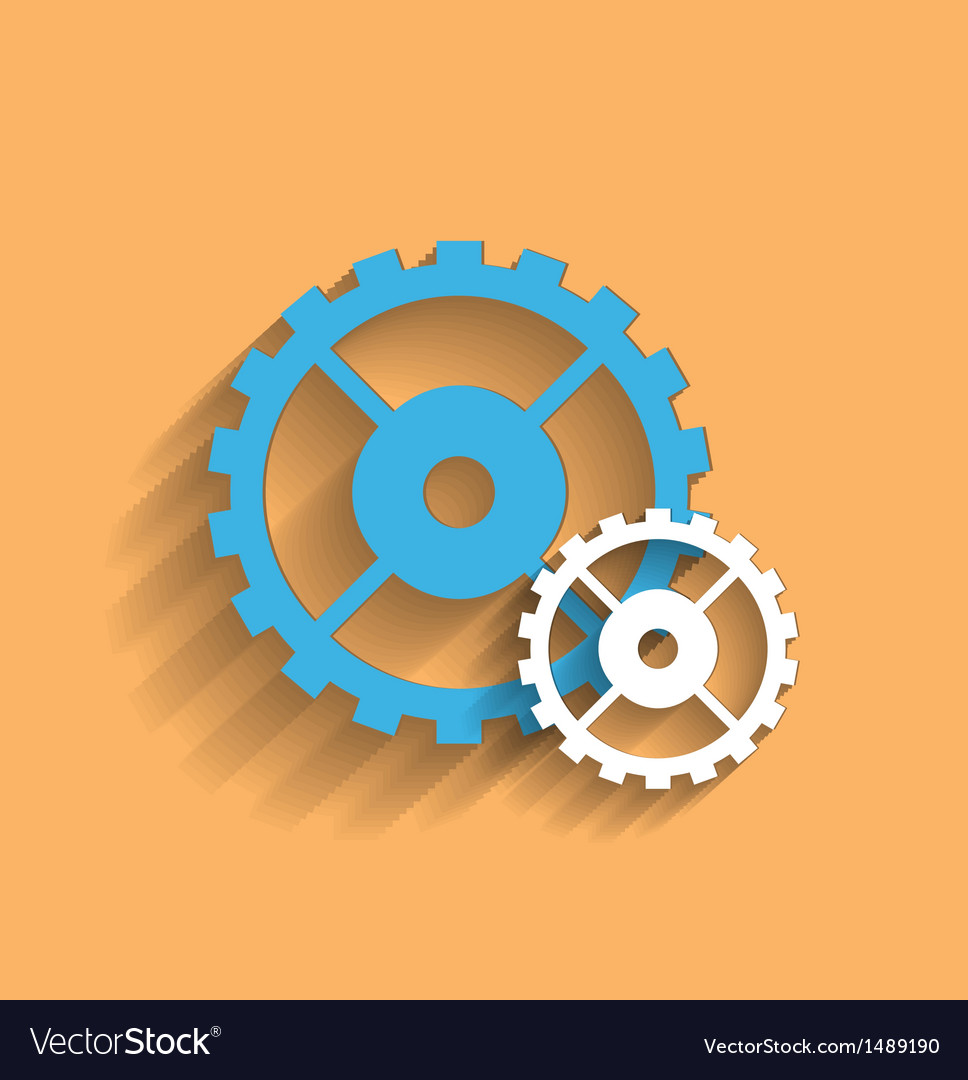 Cogwheel flat icon vector | Price: 1 Credit (USD $1)