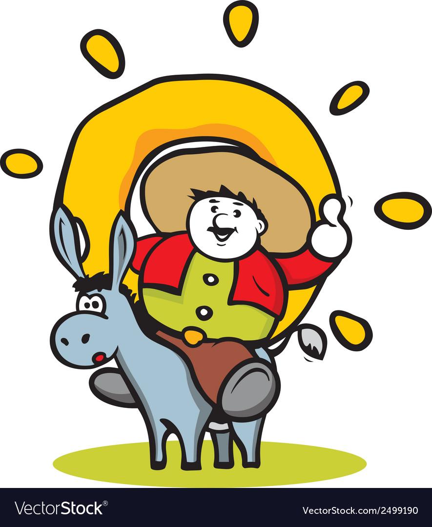 Donut man logo vector   Price: 1 Credit (USD $1)