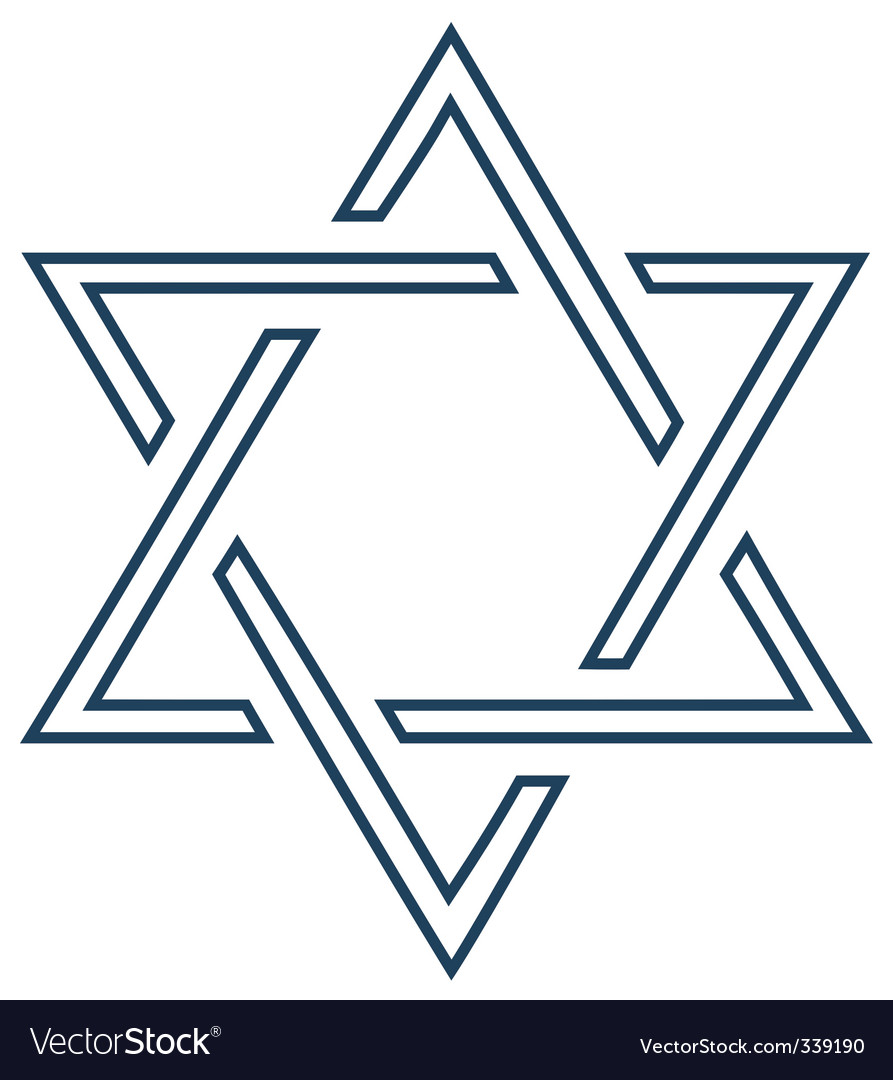 Jewish mage david star design vector | Price: 1 Credit (USD $1)