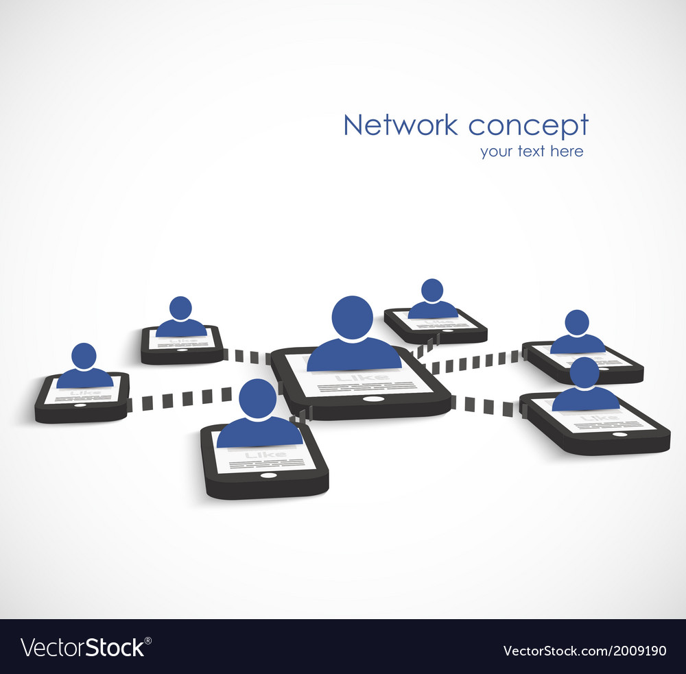 Network concept vector | Price: 1 Credit (USD $1)