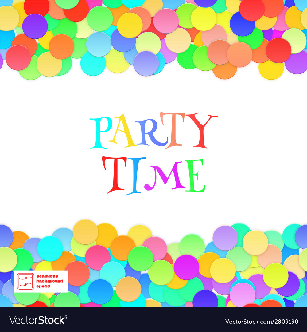 Party seamless pattern confetti vector   Price: 1 Credit (USD $1)