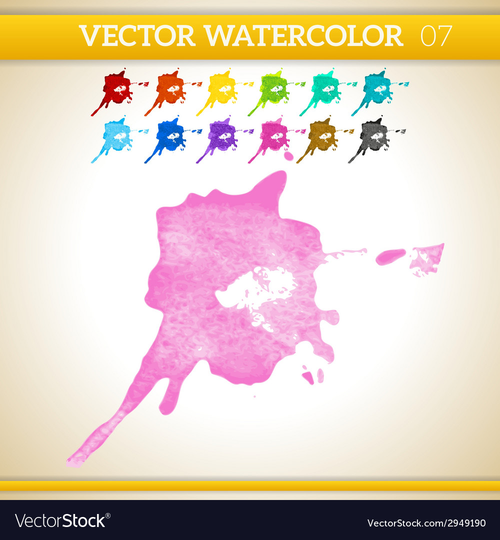 Pink watercolor artistic splash for design and vector | Price: 1 Credit (USD $1)