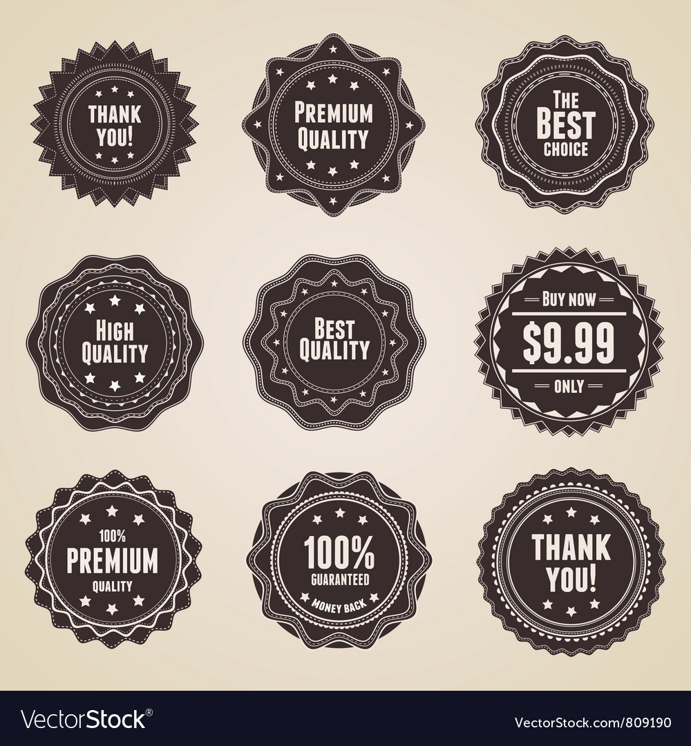 Retro premium quality labels vector | Price: 1 Credit (USD $1)