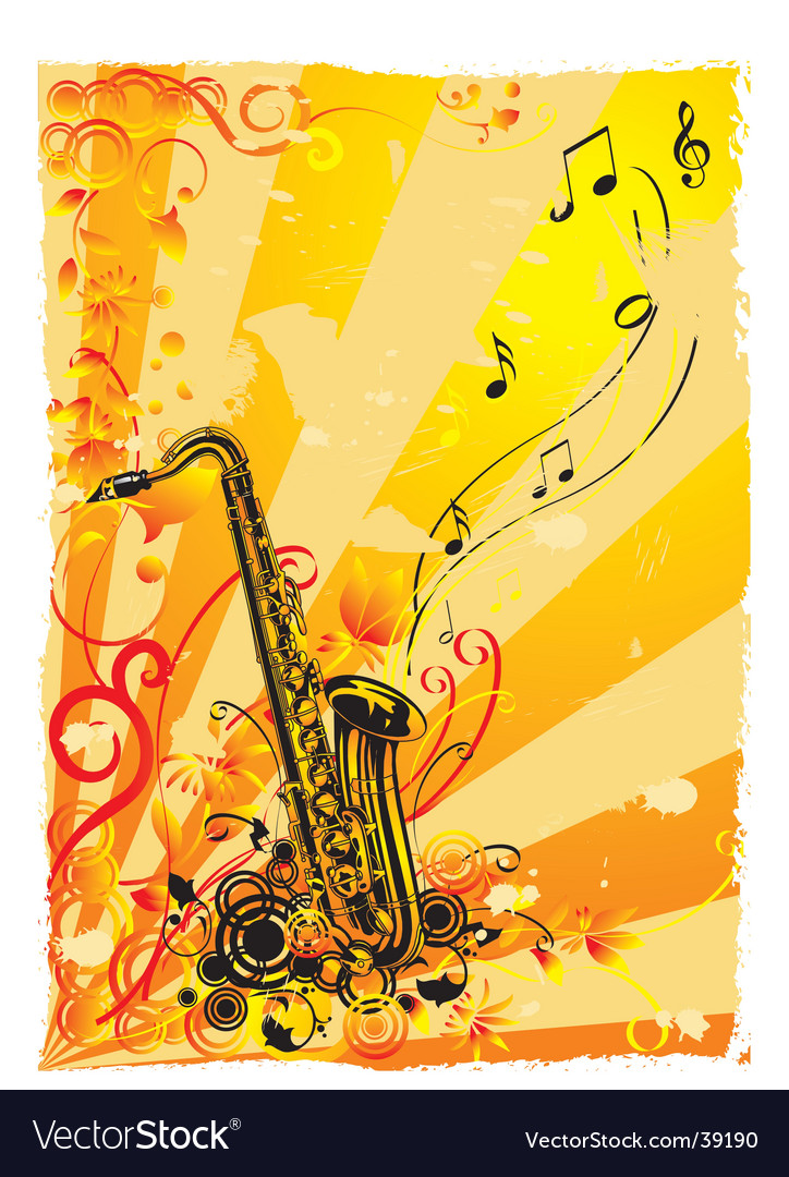 Saxophone vector | Price: 3 Credit (USD $3)