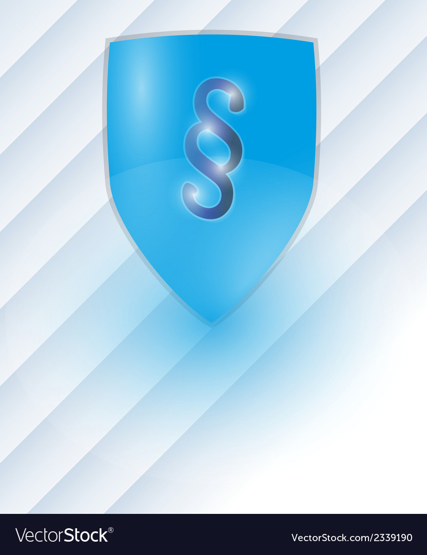 Shield with paragraph vector | Price: 1 Credit (USD $1)