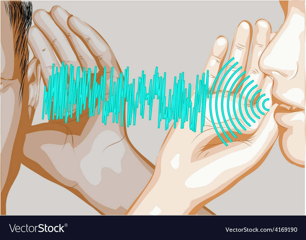 Speak and listen vector | Price: 1 Credit (USD $1)