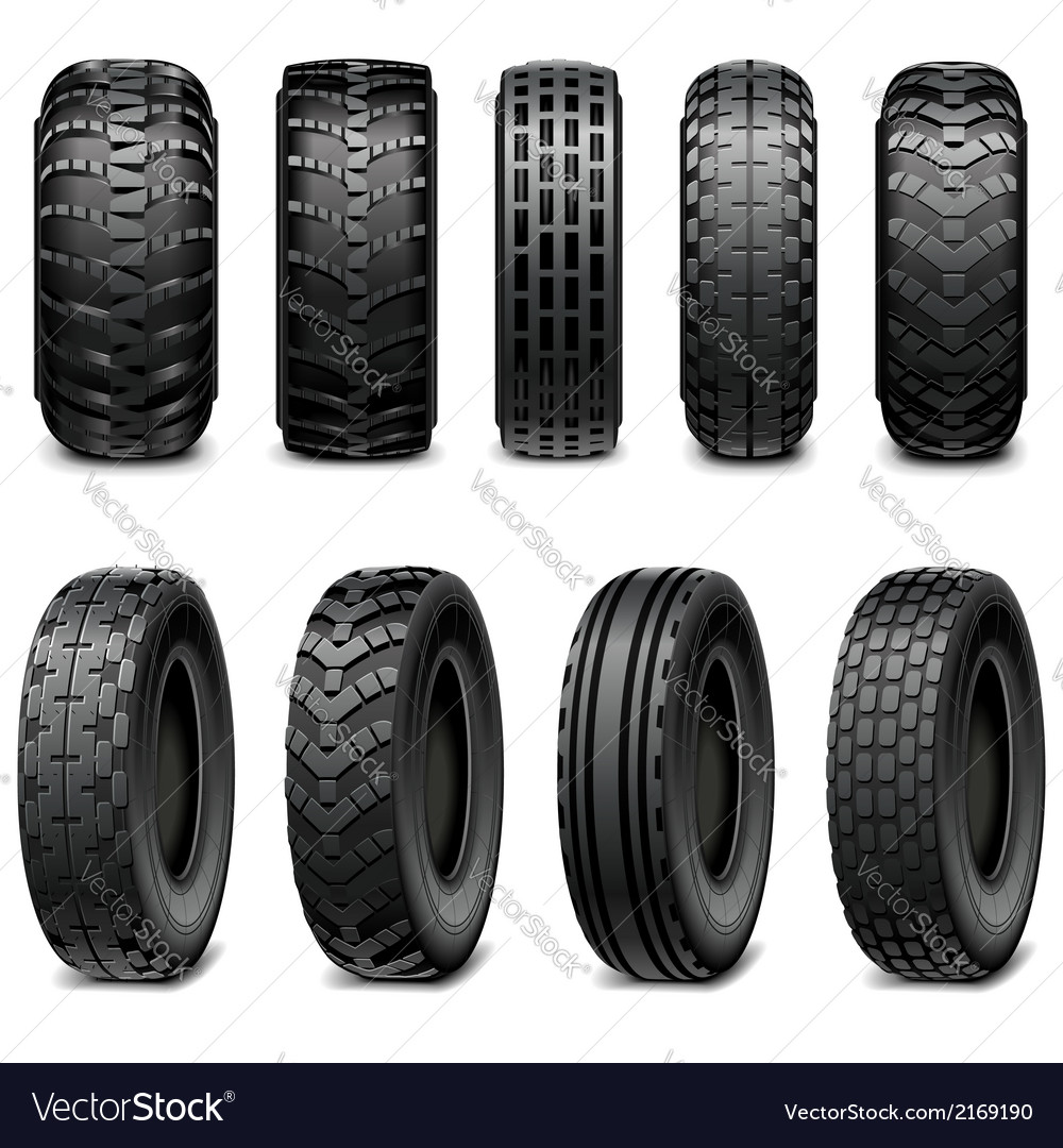 Truck and tractor tires vector | Price: 1 Credit (USD $1)