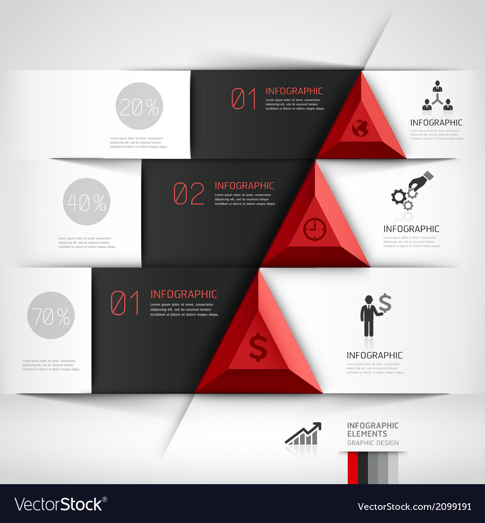 3d business origami template vector | Price: 1 Credit (USD $1)