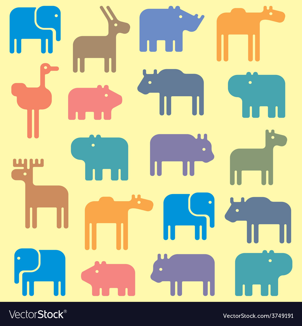 Animal pattern vector | Price: 1 Credit (USD $1)