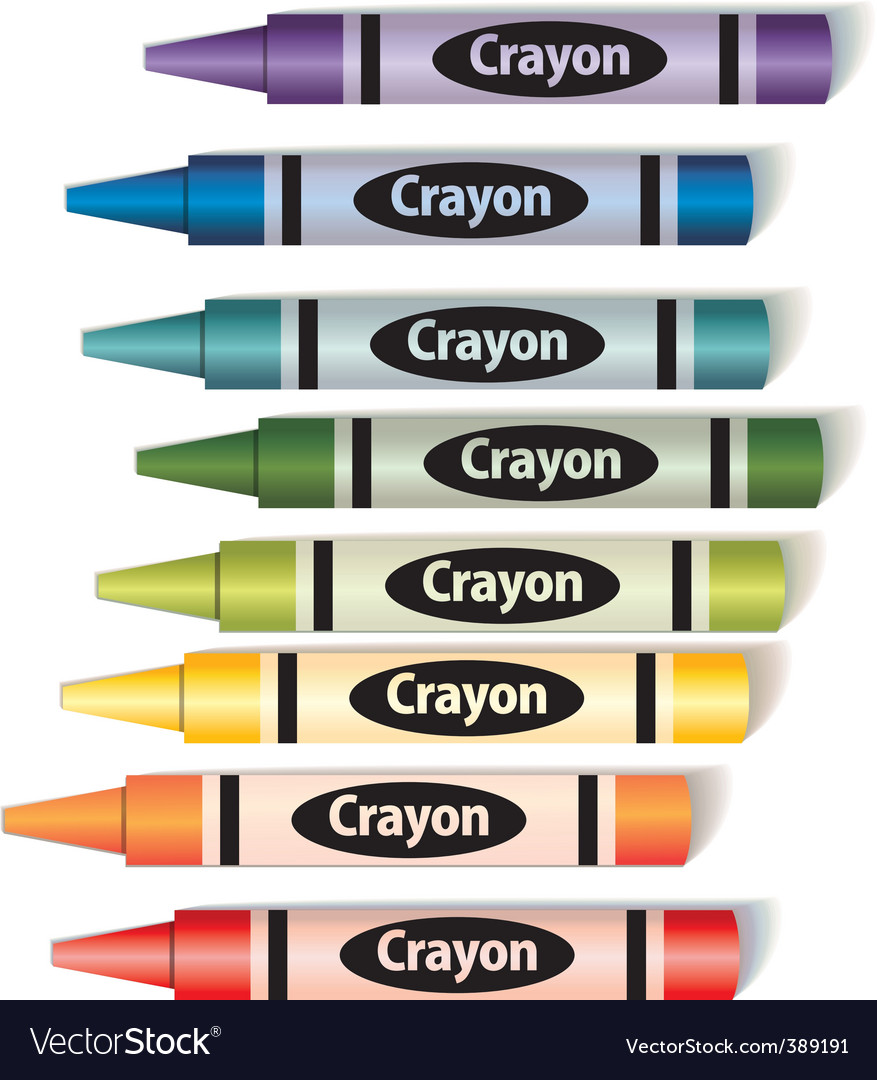 Colorful crayons vector | Price: 3 Credit (USD $3)