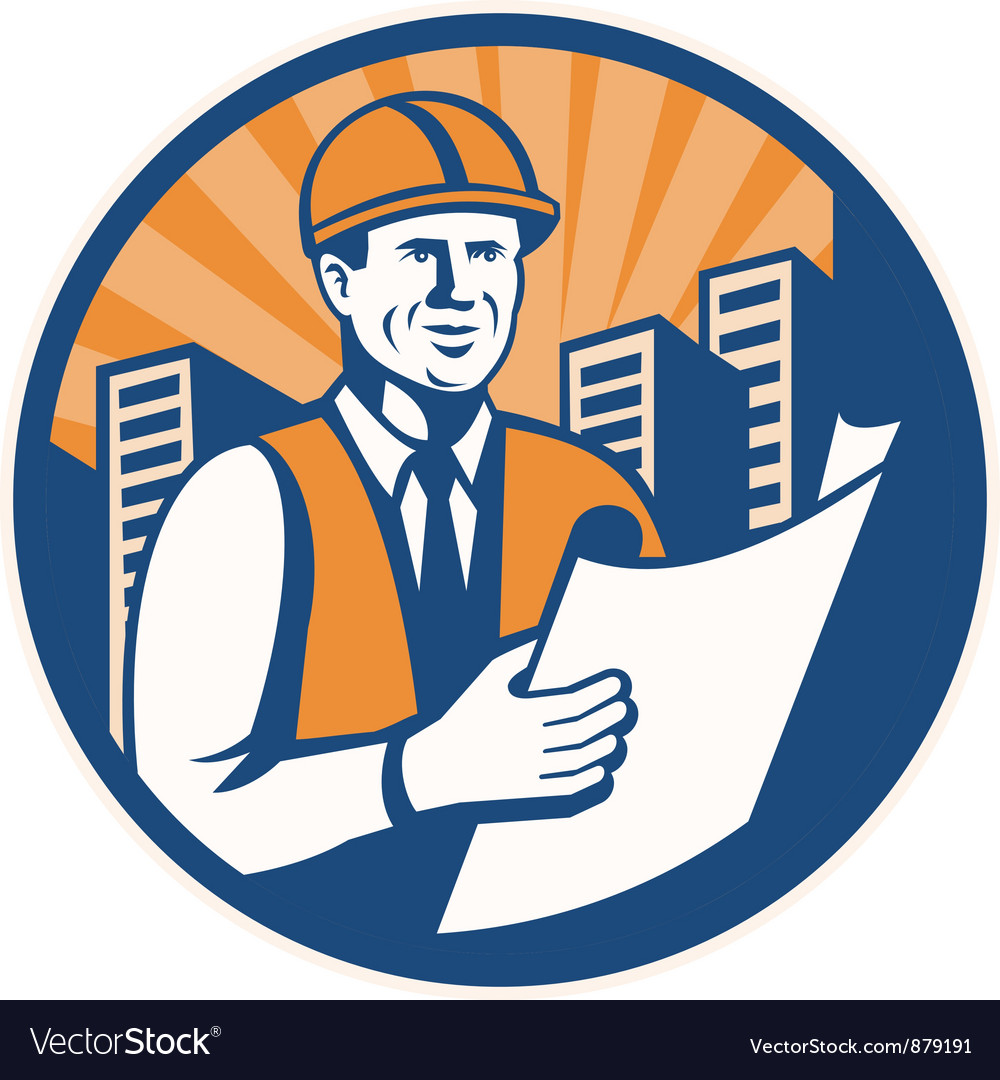 Construction engineer vector | Price: 1 Credit (USD $1)