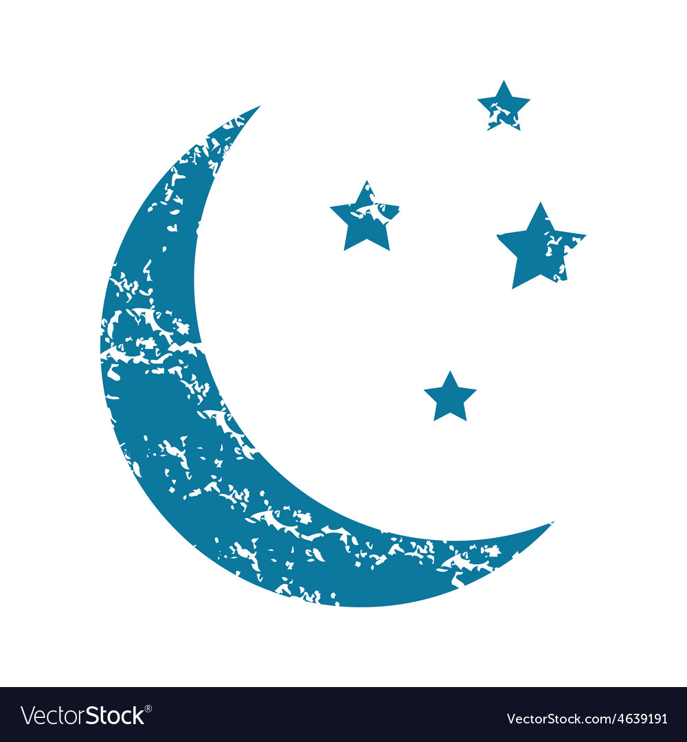 Crescent moon grunge icon vector | Price: 1 Credit (USD $1)