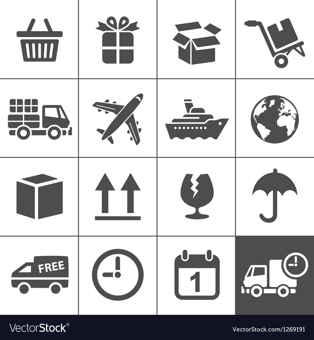 Logistics icons set simplus series vector | Price: 1 Credit (USD $1)