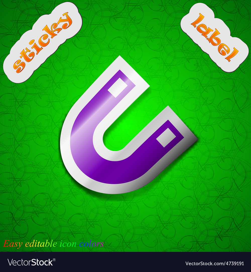 Magnet horseshoe icon sign symbol chic colored vector | Price: 1 Credit (USD $1)