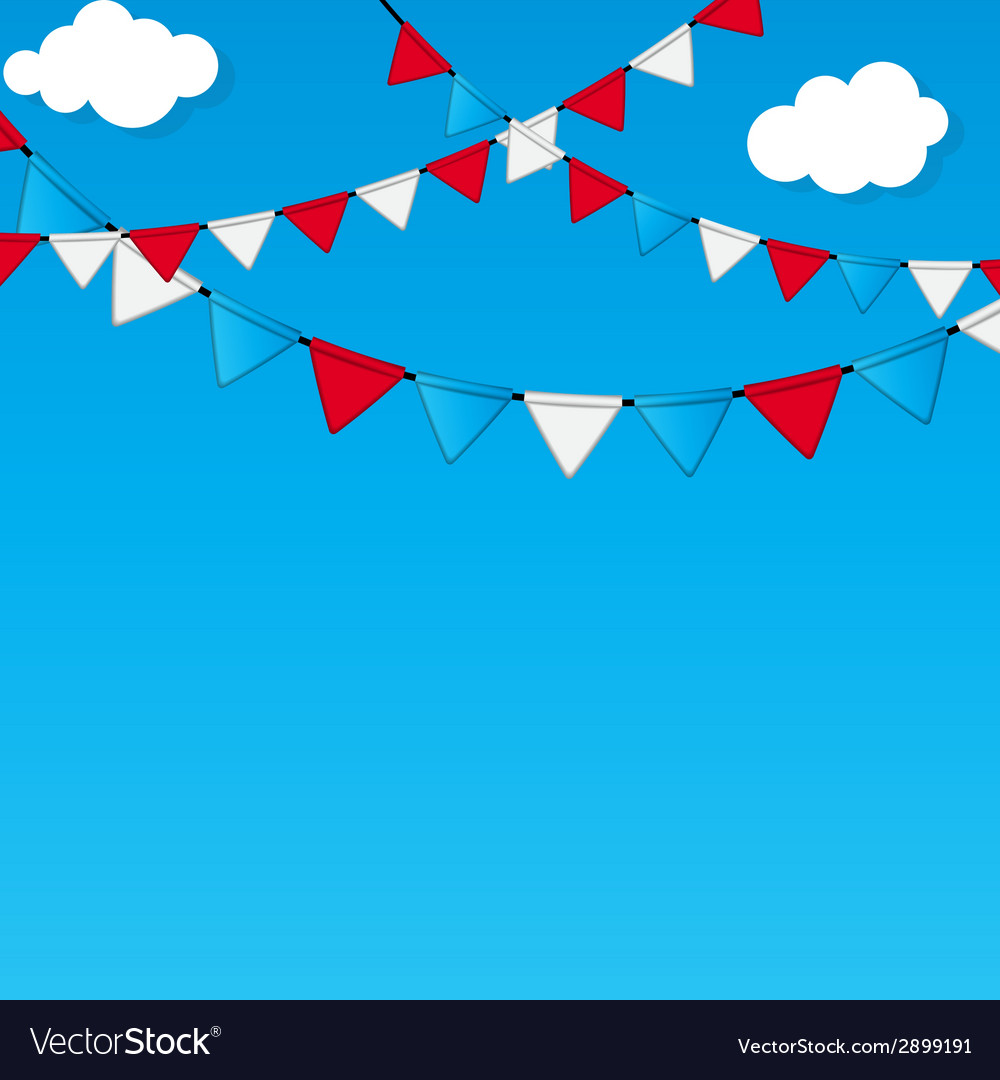 Party flag background vector | Price: 1 Credit (USD $1)