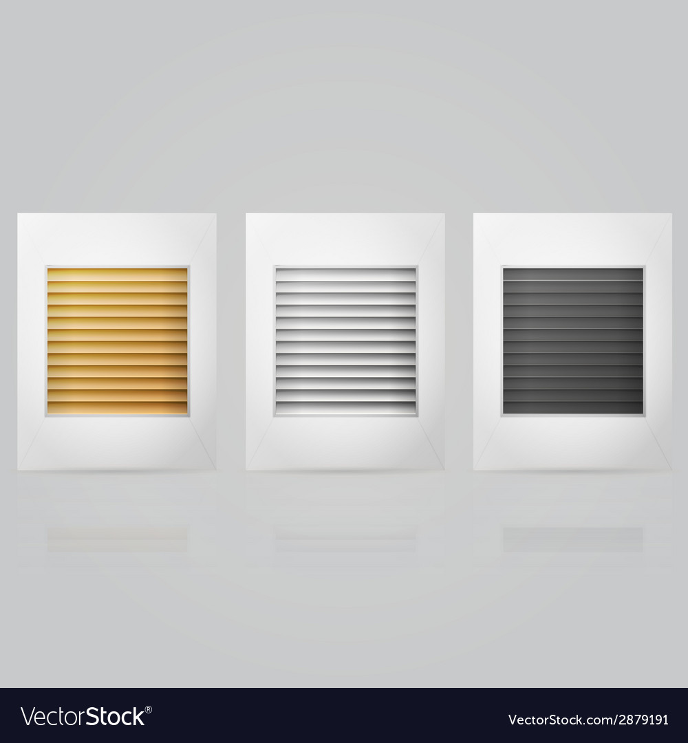Window louvers in frame vector | Price: 1 Credit (USD $1)