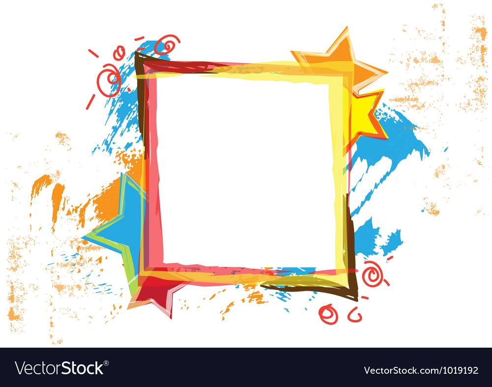Banner design with grunge background vector | Price: 1 Credit (USD $1)