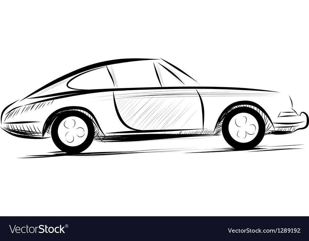 Car racing auto logo line art vector | Price: 1 Credit (USD $1)