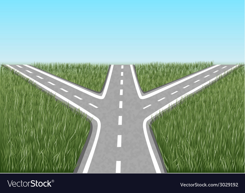 Crossroads vector | Price: 1 Credit (USD $1)