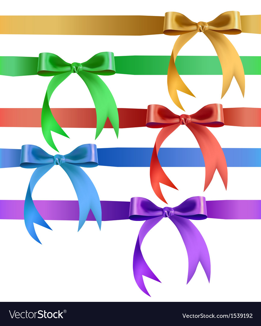 Decorative bow in various colors vector | Price: 1 Credit (USD $1)