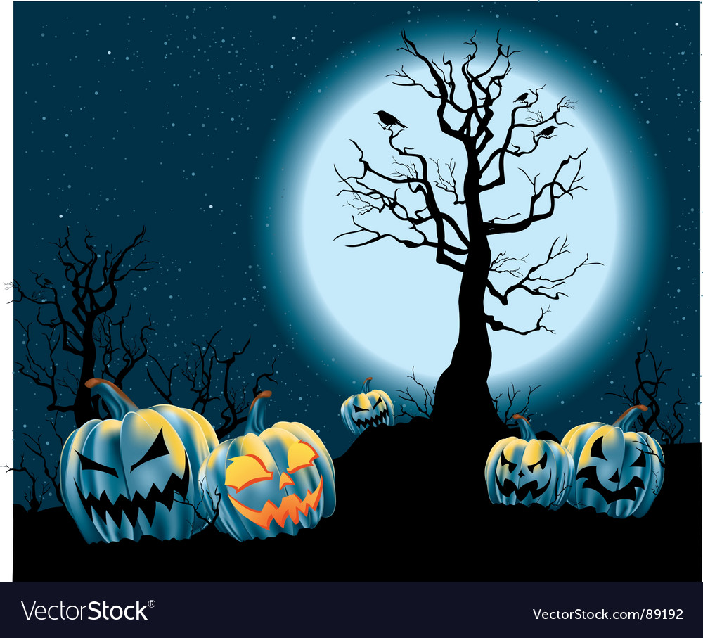 Halloween jack-o-lanterns vector | Price: 1 Credit (USD $1)