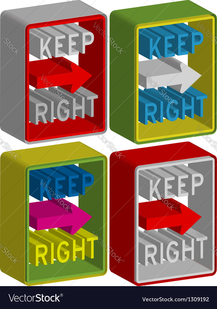 Keep right vector | Price: 1 Credit (USD $1)