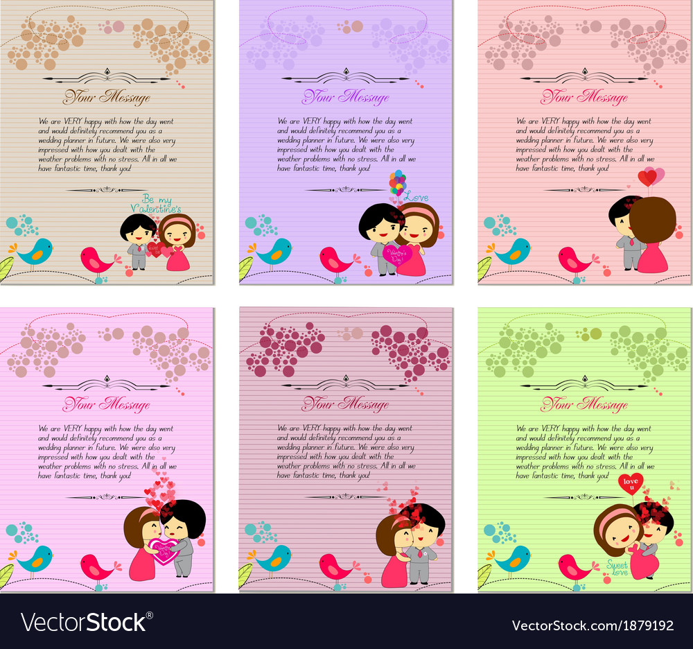 Letterhead valentines set vector | Price: 1 Credit (USD $1)
