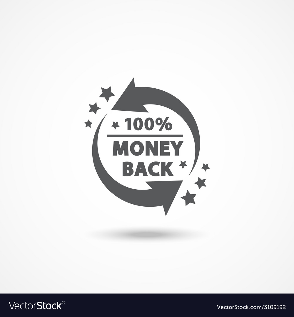 Money back label vector | Price: 1 Credit (USD $1)