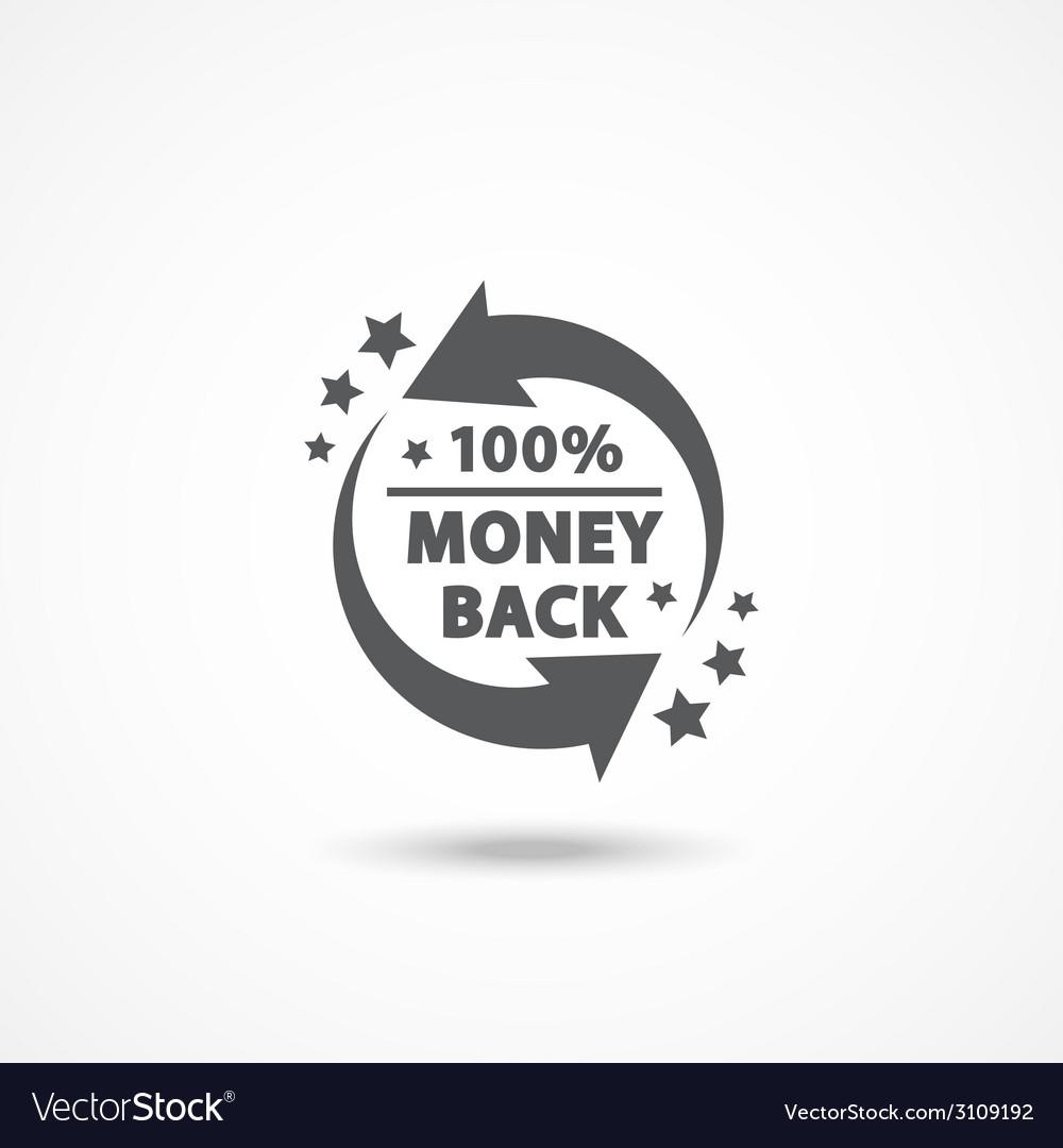 Money back label vector | Price: 1 Credit (USD $1)